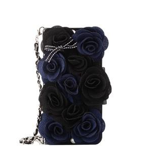 Bao điện thoại Samsung galaxy S6 S7 edge S8 S9 plus dạng ví hoa hồng cầm tay thời trang cho nữ
