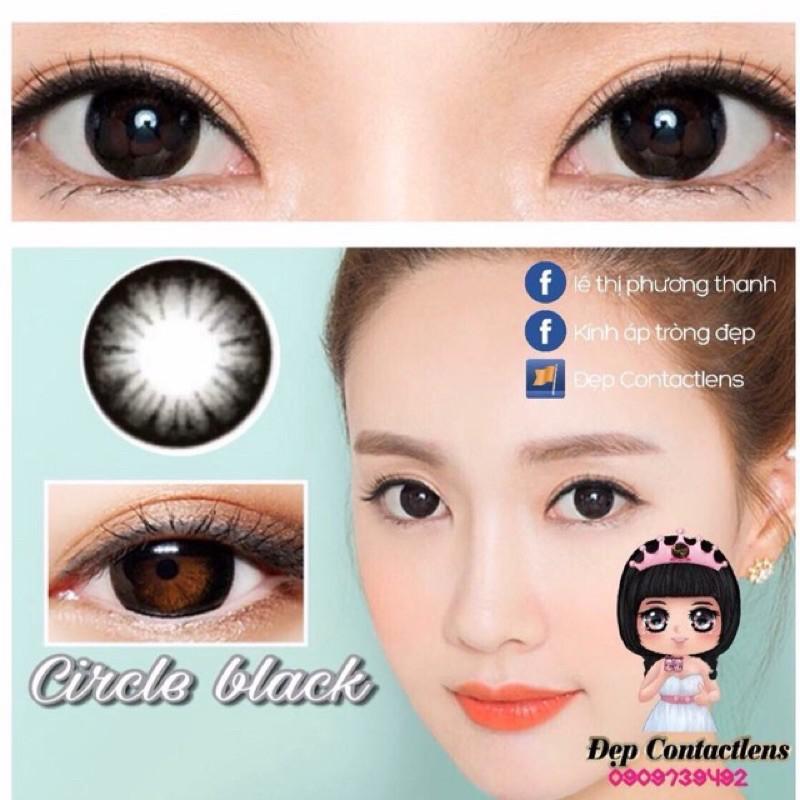 [Ảnh Thật] Lens Vassen Circle Black 14.2mm 0-10diop (cận ib)