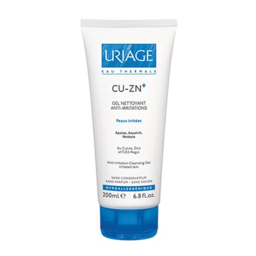 Gel Rửa Mặt Cho Da Kích Ứng Cu-zn+ Gel Nettoyant Anti-Irritations - Uriage 200ml