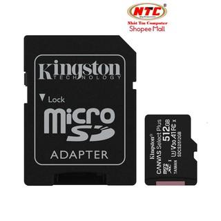 Thẻ nhớ microSDXC Kingston Canvas Select Plus 512GB U3 V30 A1 R100MB s W85MB s - Kèm Adapter (Đen) thumbnail