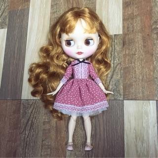 SALE 160k còn 120k váy chấm bi hồng cho Blythe