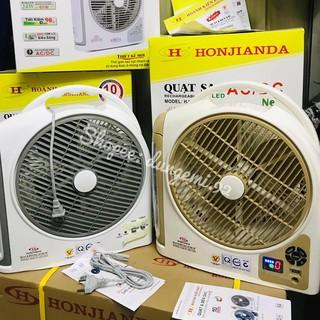 Quạt sạc tích điện đa năng 2 bóng tuýp 10 inch Honjianda_Bảo hành 6(9)tháng