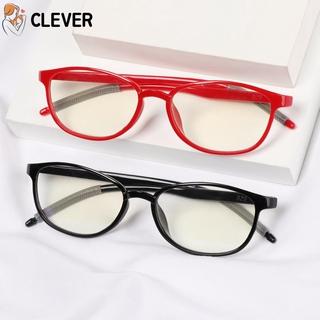 CLEVER Women Men Reading Glasses Comfortable Ultra Light Frame Anti-Blue Light Eyeglasses Portable Antifatigue Fashion Vintage Eye Protection/Multicolor