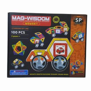Đồ chơi xếp hình nam châm Mag Wisdom 100 chi tiết