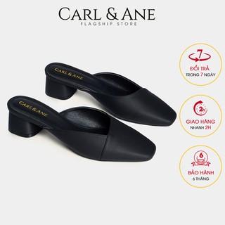Carl & Ane - Dép cao gót bít mũi gót vuông cao 4cm màu đen _ CL008