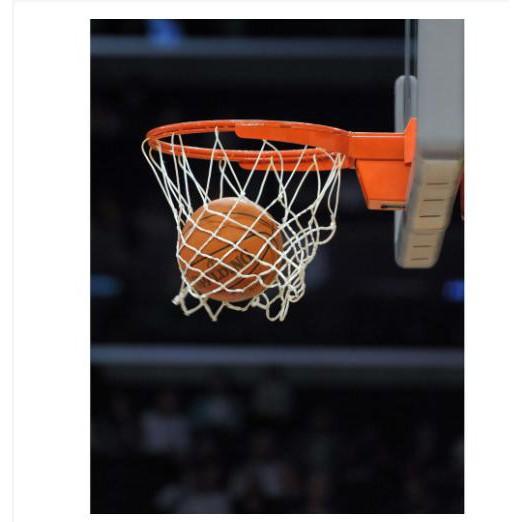 Combo trọn gói bộ sản phẩm Khung Vành bóng rổ cao cấp loại 40cm + quả bóng rổ số 6 (Cam)