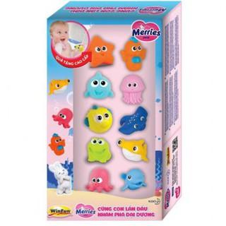 Hộp đồ chơi tắm sinh vật biển 10 con hiệu Winfun C00001-NI thumbnail