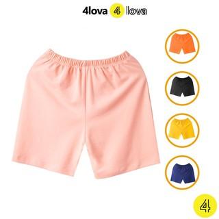 Quần đùi short thun chất cotton size đại cho bé 4LOVA chính hãng từ 28-44 kg