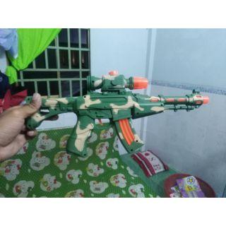 Đồ chơi súng dùng pin mẫu xanh lục