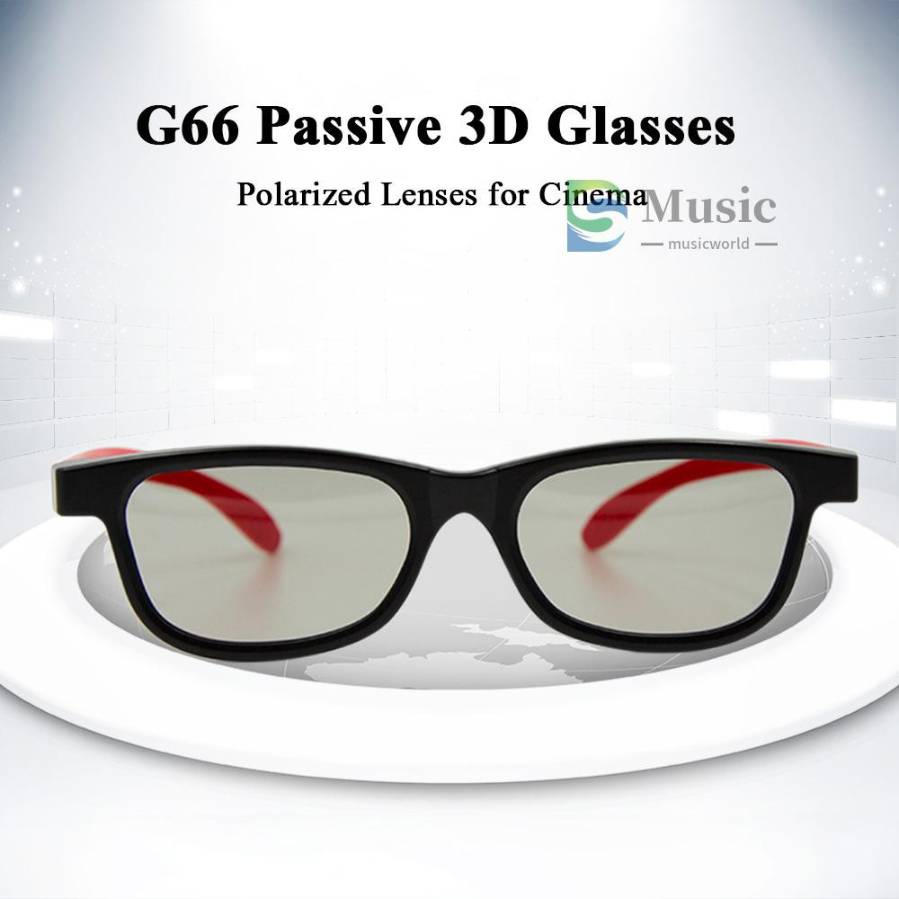 〖MUSIC〗G66 Passive 3D Glasses Polarized Lenses for Cinema Lightweight Portable for watching Movies