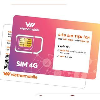 [ELVNMAPR giảm 15% đơn 150K] Siêu Sim Tiện Ích Miễn phí Data Gọi và SMS nội mạng - Duy trì chỉ 20k/tháng - Vietnamobile