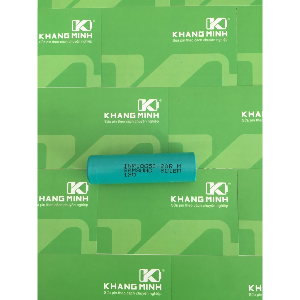 KM Cell Samsung xả cao 20A, INR18650 - 20R, dung lượng 2000mAh, chuyên dùng cho pin power tool