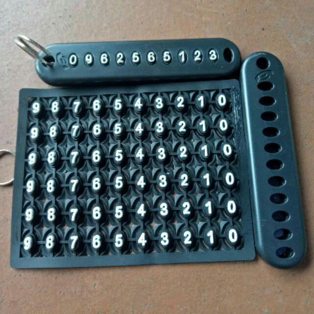 Treo số điện thoại vào móc chìa khóa
