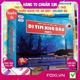 [FREESHIP HÀNG ĐẸP] Board game-Đi tìm kho báu phần 2 Foxi-đồ chơi gia đình tương tác tư duy-quản trị niềm tin