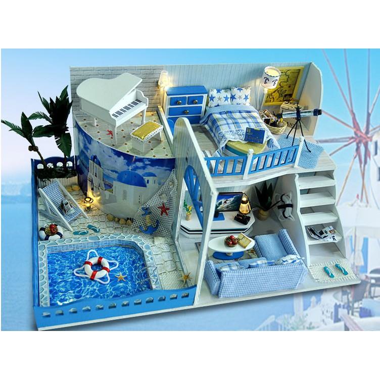 Mô hình nhà búp bê DIY biệt thự biển Địa Trung Hải 2 tầng có bể bơi - 2812287 , 324107237 , 322_324107237 , 350000 , Mo-hinh-nha-bup-be-DIY-biet-thu-bien-Dia-Trung-Hai-2-tang-co-be-boi-322_324107237 , shopee.vn , Mô hình nhà búp bê DIY biệt thự biển Địa Trung Hải 2 tầng có bể bơi