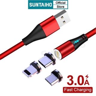 Dây Cáp Dữ Liệu Kiêm Sạc Nhanh Suntaiho Bằng Silicone Mềm 360º 3A USB/Micro USB/Lightning/Type-C Dành Cho iPhone