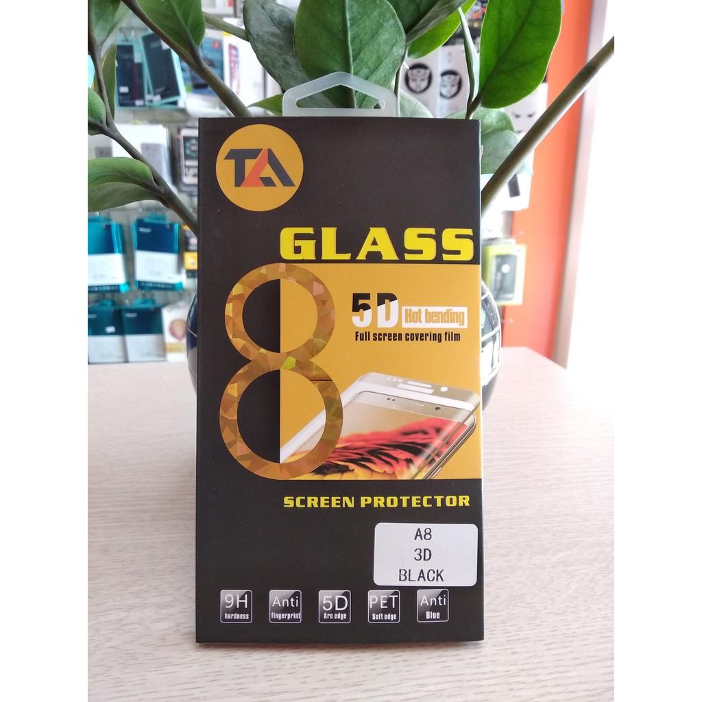 Kính cường lực 5D full màn Galaxy A8
