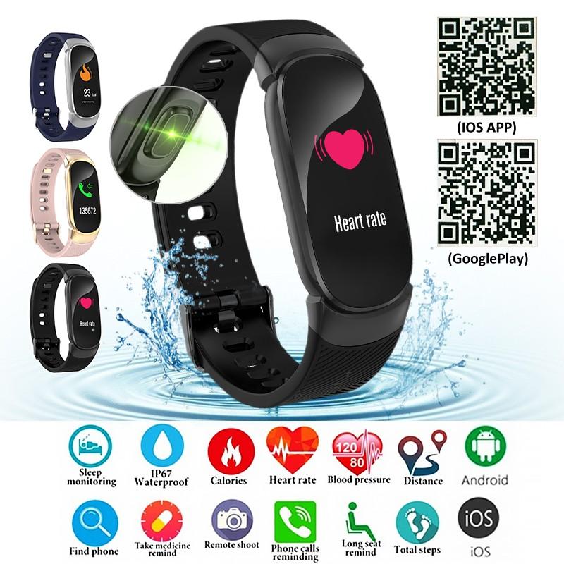 Đồng Hồ Thông Minh Qw16 Chống Nước Kết Nối Bluetooth Theo Dõi Sức Khỏe Cho Nữ