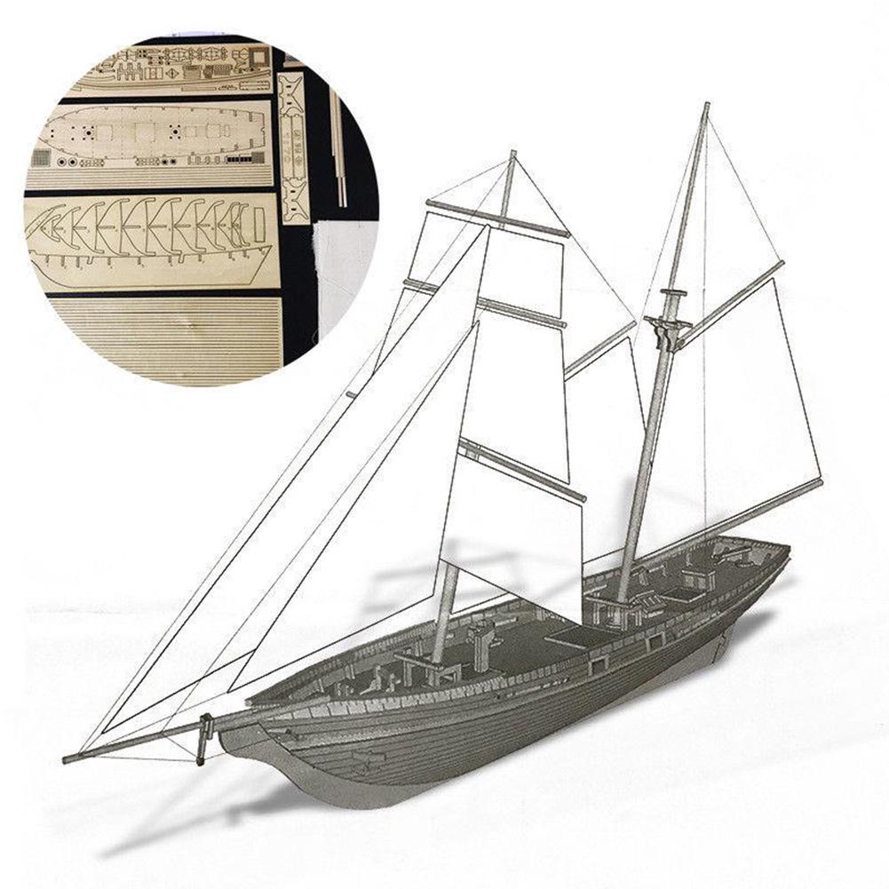 Wooden Sailing Ship Boat Model DIY Kits Assembly 1:70 Scale