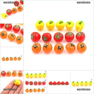 warmhome 5Pcs Resin Fruit Vegetables Kawaii DIY Resin Craft Decoration Miniature Toys thro