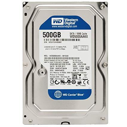 Ổ cứng HDD WD 500GB BLUE - Bảo Hành 24 Tháng[Rẻ