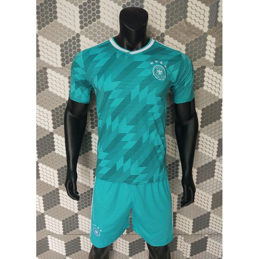 Quần áo đá banh tuyển Đức xanh World Cup 2018