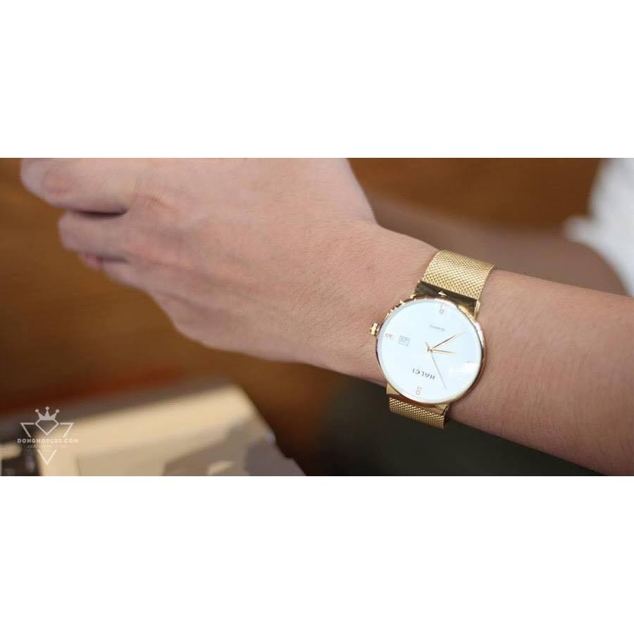 Đồng hồ nam Halei vàng kim phong cách phái mạnh
