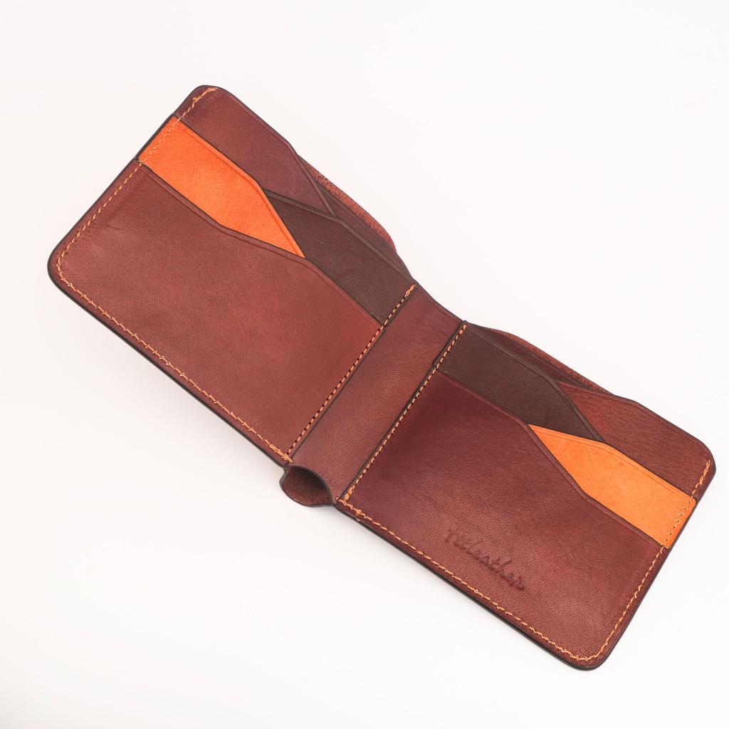 Ví da mùi thơm của gỗ - Ví da Veg mẫu 05 màu nâu mã V01010550CH