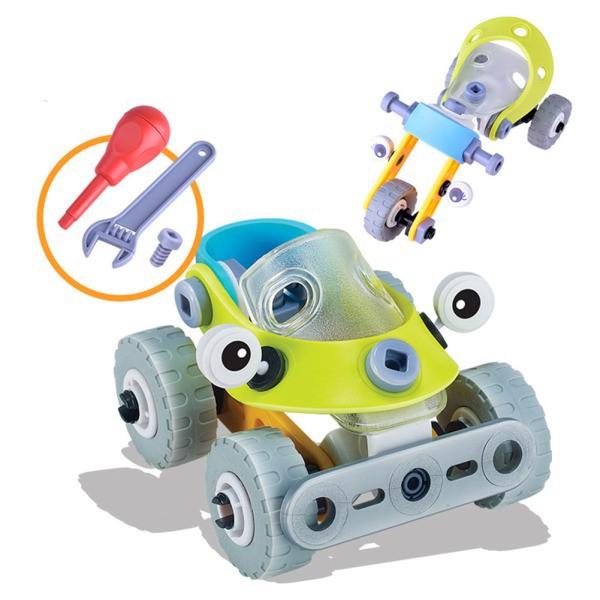 AD Kid Puzzle Building Blocks DIY Assembly Aircraft Car Model Toys