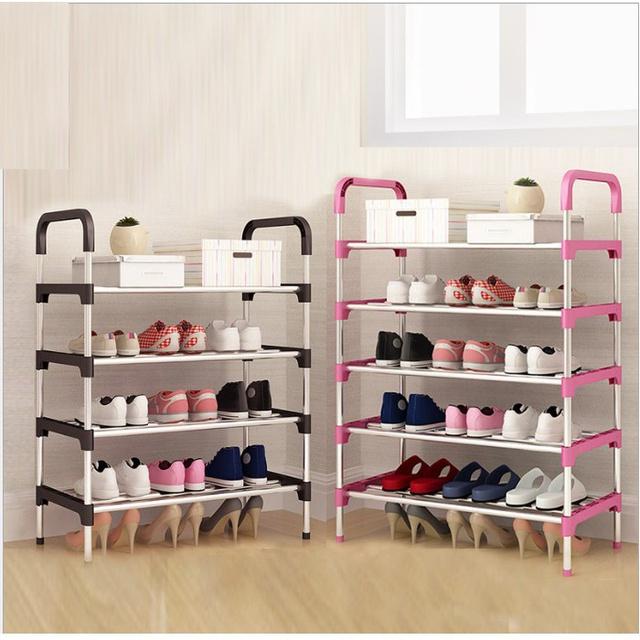 Kệ giày dép 5 tầng khung inox chắc chắn (Nhiều Màu)