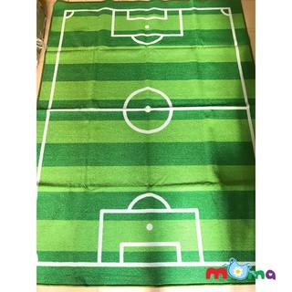 Đệm lót,thảm, sàn chơi cho bé bằng lông dày hình Sân Đá Bóng, Sân Banh, mặt đáy nhựa chống trơn trượt_HL018