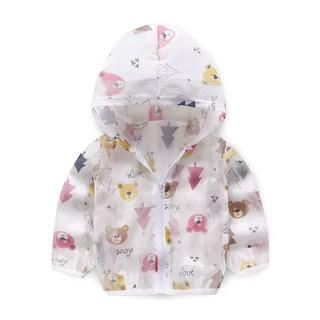 Áo khoác bé gái chú gấu nhỏ – Màu: Trắng