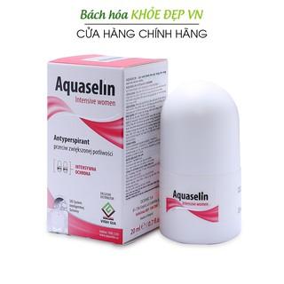 Aquaselin intensive women 20ml Lăn khử mùi không mùi cho nữ mồ hôi nách nhiều