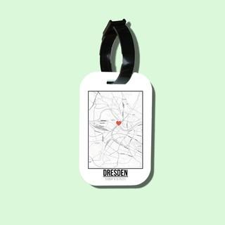 Travel tag cho túi xách balo du lịch in hình Love City - Dresden thumbnail
