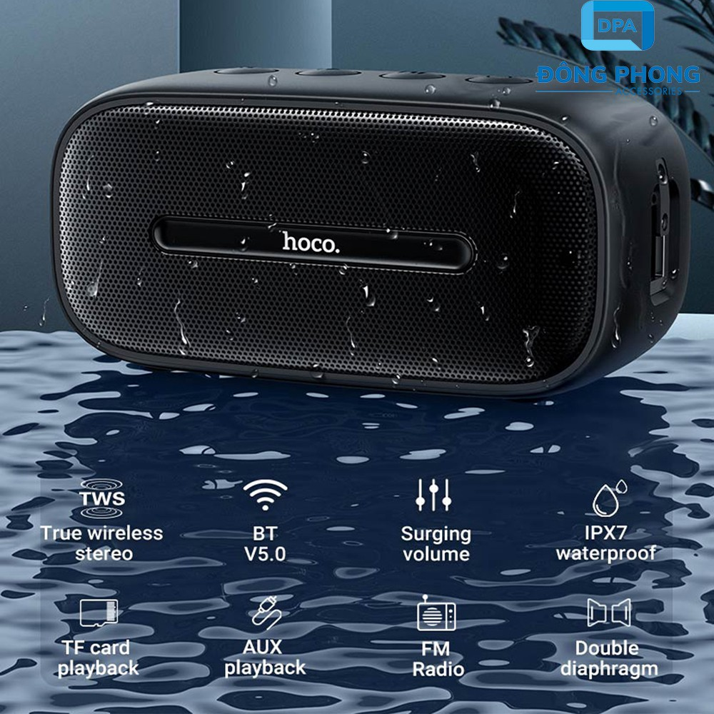Loa Bluetooth Mini Hoco BS43 Chính Hãng V5.0 Wireless Speaker Chống Nước  IPX7