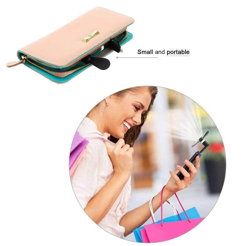 Quạt USB mini 3 trong 1 mềm mại cho điện thoại Android Type C / Micro / iPhone