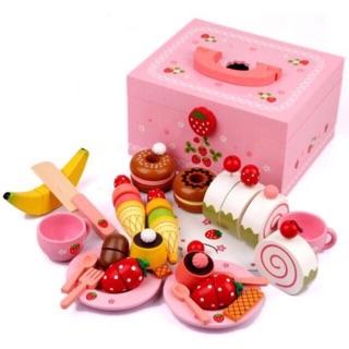 Tiệc dâu tây Mother Garden – đồ chơi gỗ