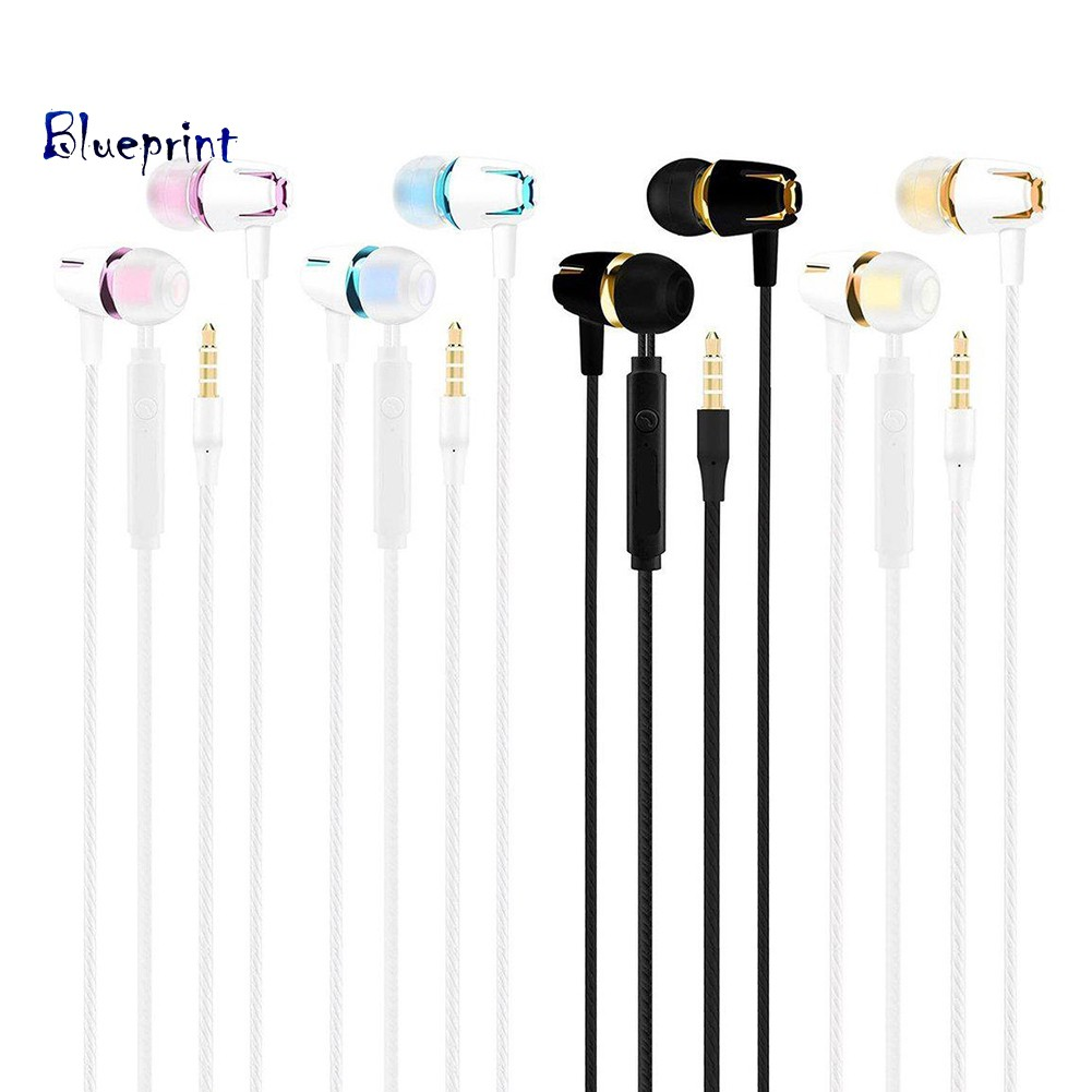 ☞BPFashion In-ear Heavy Bass 3.5mm Plug Universal Wired Earphones with Microphone