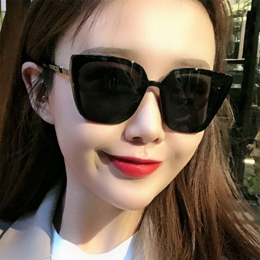 Kính Râm Nữ Thời Trang Hàn Quốc Mắt Mèo Gọng Vuông Chống Tia Uv