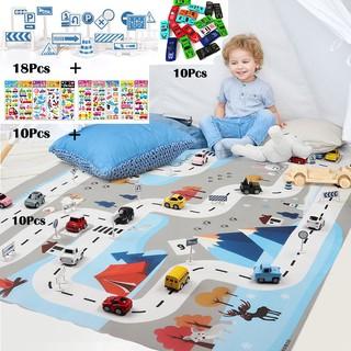 39Pcs/Set Children Traffic Road Game Mat Model Car Toy Crawling Mat