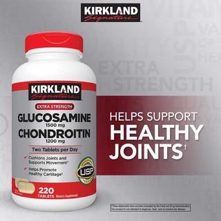 Viên uống Glucosamine 1500mg & chondroitin 1200mg 220 viên – Glucosamin Kirkland 220