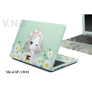 Decal dán Laptop V.NO SKIN – CÁ TÍNH GIRL cao cấp cho các dòng laptop dell/acer/asus/lenovo/hp/macbook