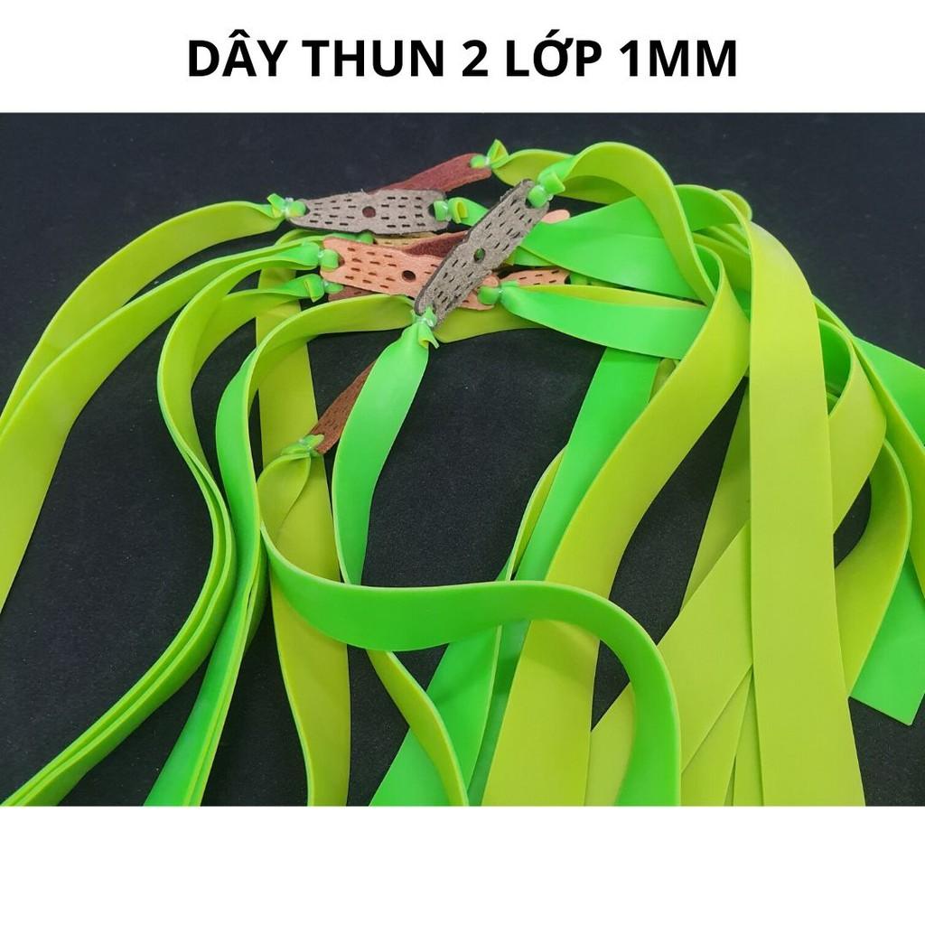 Dây ná cao su 2 lớp dày 1mm, dây ná thun cao cấp độ bền 2 nghìn lần