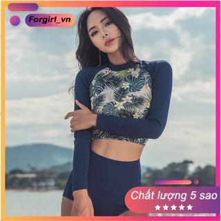 Set bộ bikini 2 mảnh tay dài Quảng Châu hoạ tiết thổ cẩm chất liệu cao cấp thumbnail