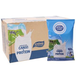 Sữa cô gái hà lan 220ml Dutch Lady Không đường Thùng 48 Bịch