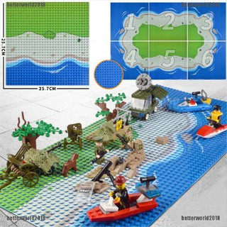 [Better] Plastic The island Crossroad Curve Meadow Road Plate Building Block Parts Bricks [World]