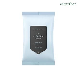 Khăn ướt tẩy trang kem chống nắng innisfree My Makeup Cleanser - Sun Cleansing Tissue (20 tờ)