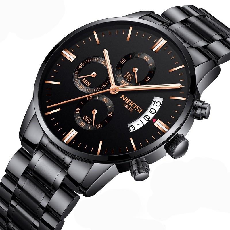 [Tặng vòng tay]Đồng hồ nam NIBOSI chính hãng NI2353.09 dây thép không gỉ