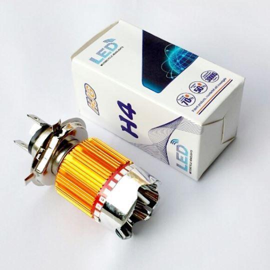Đèn pha led 3 chân H4 7 màu gắn xe máy - Kmart