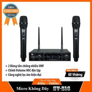 Micro không dây hát karaoke cho Loa kéo, amply WM - 307 SV-316 Chính hãng - BH 12 THÁNG thumbnail